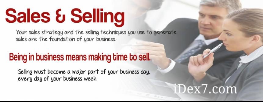 iDex7 - Sales & Selling Techniques
