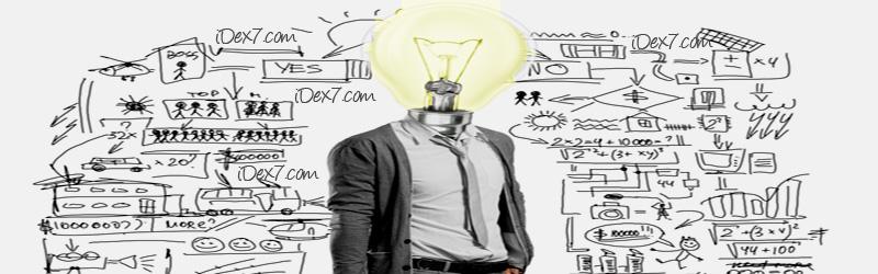 iDex7 Website Redesign - idea bulb