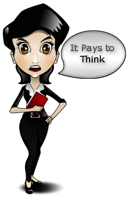 Business woman - It pays to think